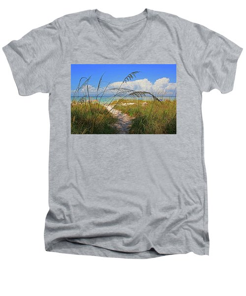 A Day At The Beach Men's V-Neck T-Shirt