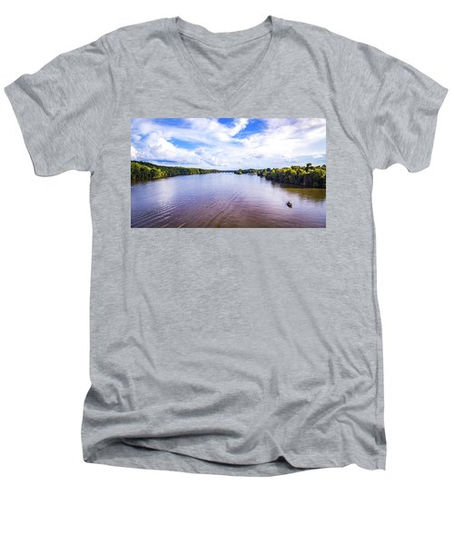 A Day On The River Men's V-Neck T-Shirt