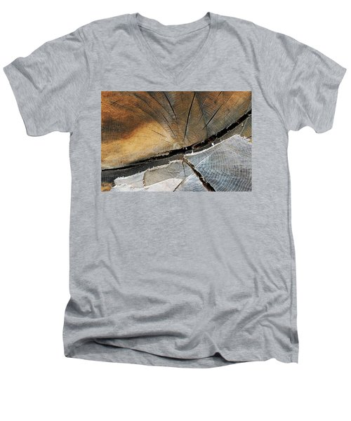 Men's V-Neck T-Shirt featuring the photograph A Dead Tree by Dorin Adrian Berbier