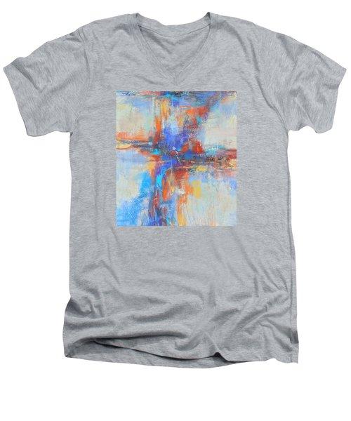 A Deep Breath Men's V-Neck T-Shirt by Becky Chappell