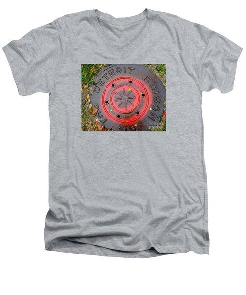 A Detroit Thing Men's V-Neck T-Shirt by Sandra Church