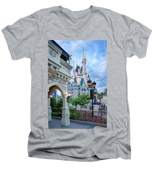 Men's V-Neck T-Shirt featuring the photograph A Different Angle by Greg Fortier