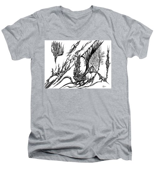 A Different Slant Men's V-Neck T-Shirt by Charles Cater