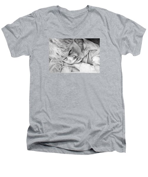 A Doleful Child Men's V-Neck T-Shirt