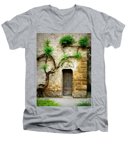 A Door In The Cloister Men's V-Neck T-Shirt by Lainie Wrightson