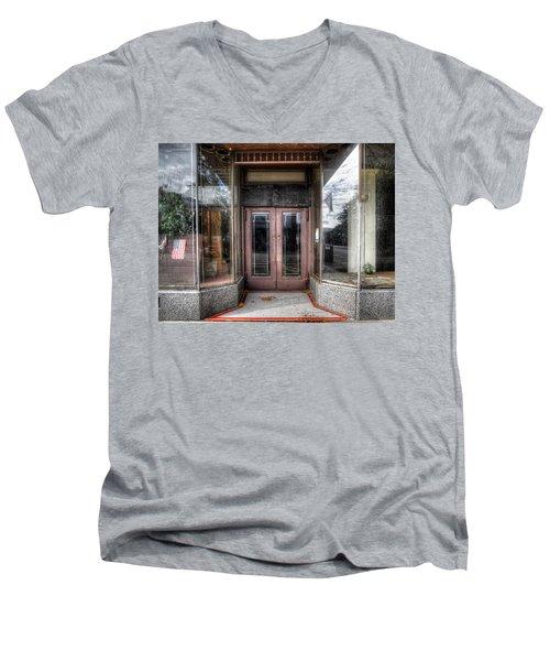 A Doorway In Port Jervis Men's V-Neck T-Shirt