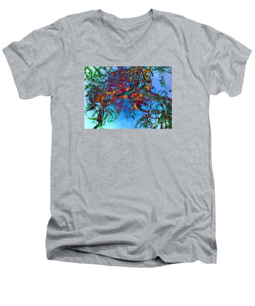 A Fabric Of Illusion Men's V-Neck T-Shirt by Roselynne Broussard
