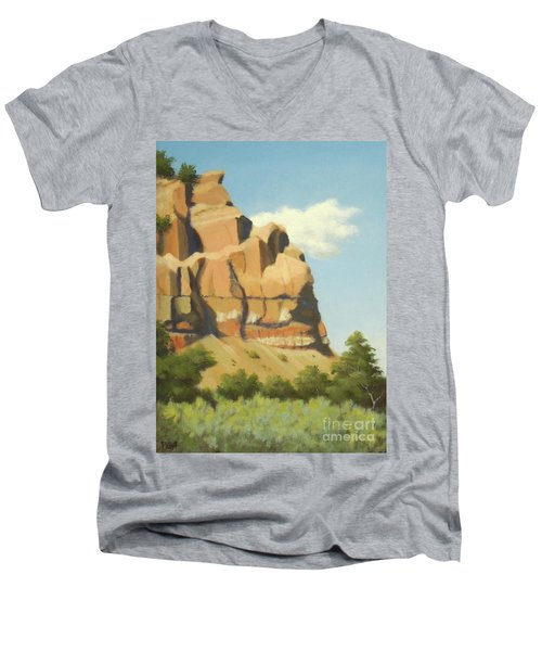 A Face In New Mexico Men's V-Neck T-Shirt