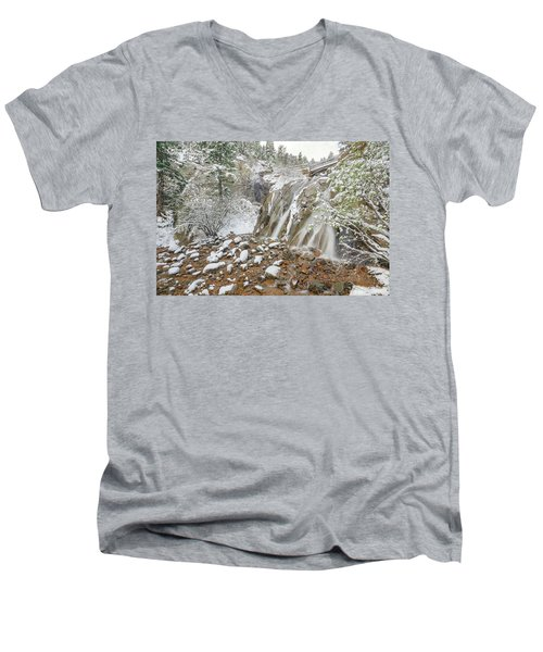 A Factitious Bridge In A Natural Environment  Men's V-Neck T-Shirt by Bijan Pirnia