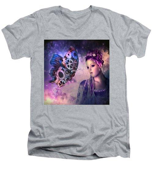 A Fairy Butterfly Kiss Men's V-Neck T-Shirt