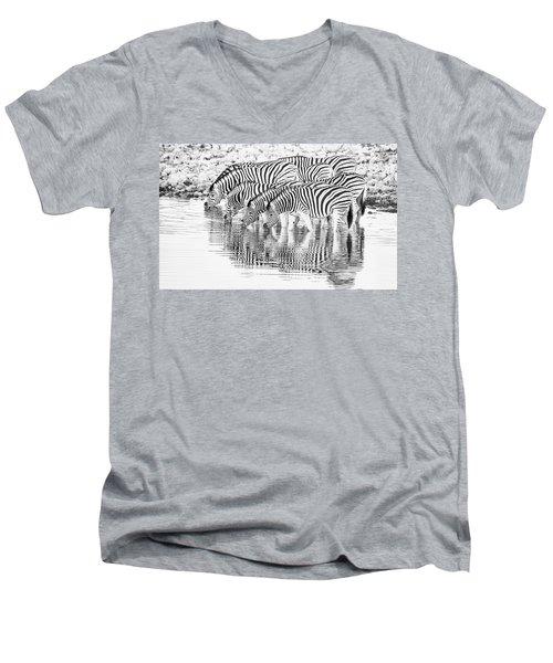 A Family That Drinks Together. Men's V-Neck T-Shirt
