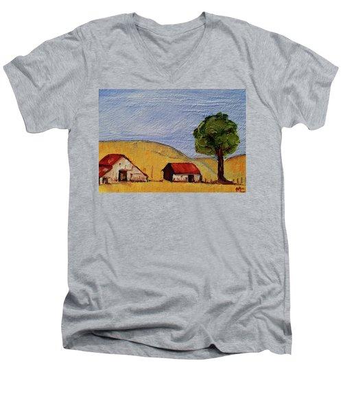 A Farm In California Winecountry Men's V-Neck T-Shirt