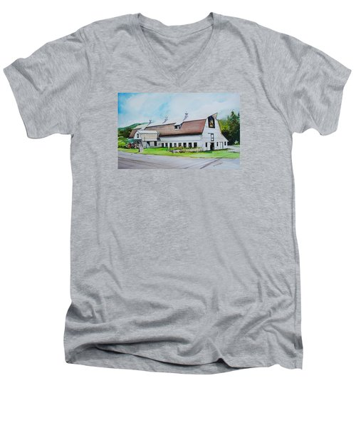 A Farmstand  In The Berkshires Men's V-Neck T-Shirt by P Anthony Visco