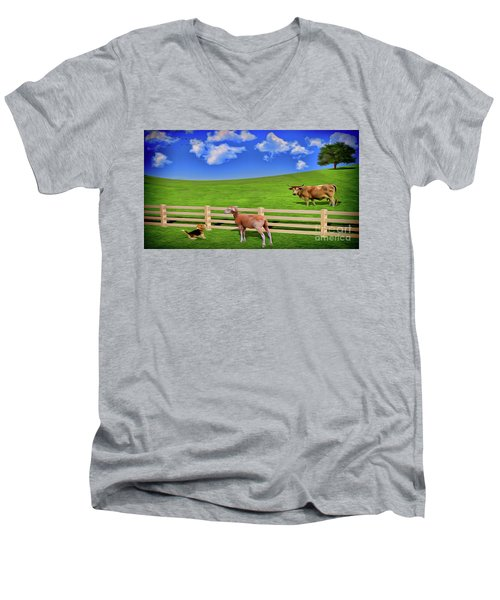 A Field Men's V-Neck T-Shirt