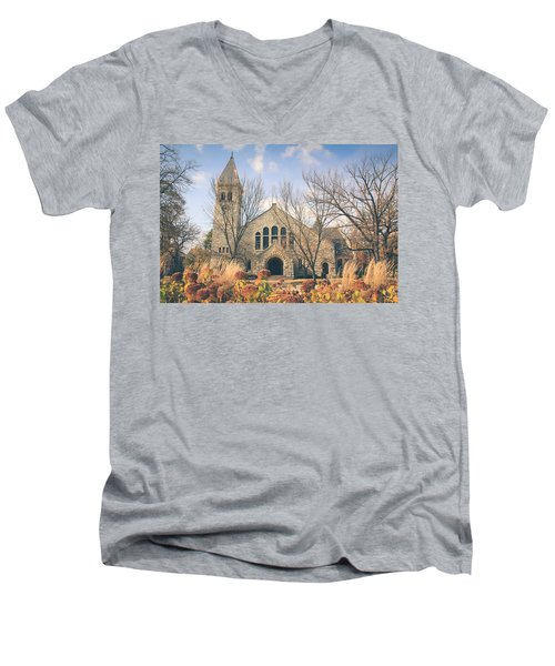A Fine Autumn Day Men's V-Neck T-Shirt