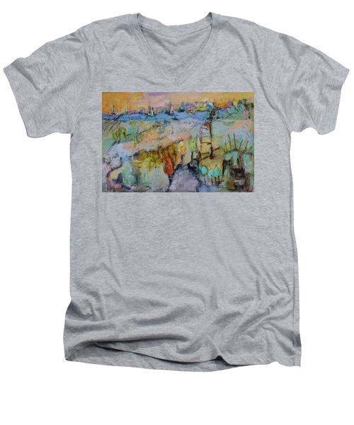 A Fine Day For Sailing Men's V-Neck T-Shirt by Sharon Furner