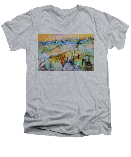 A Fine Day For Sailing Men's V-Neck T-Shirt