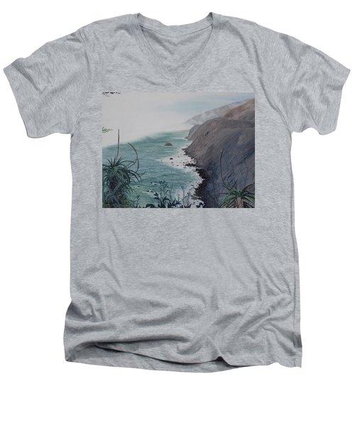 A Fog Creeps In Men's V-Neck T-Shirt