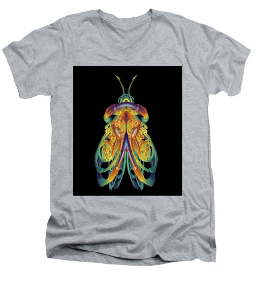 A Fractal Bug Men's V-Neck T-Shirt