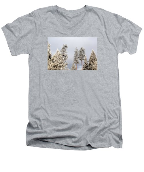 A Frosty Morning 2 Men's V-Neck T-Shirt by Janie Johnson