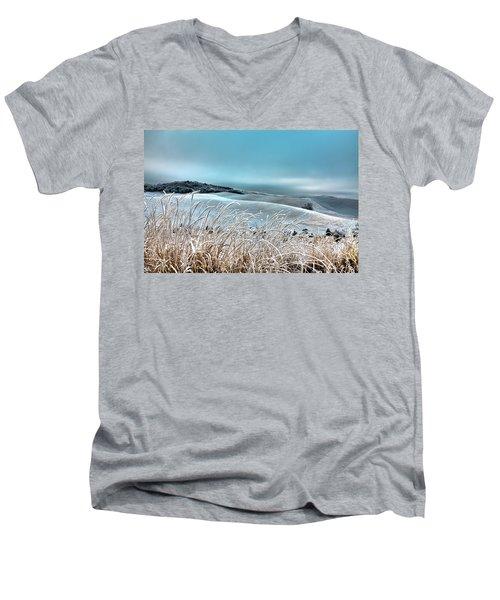 A Frosty Morning On The Palouse Men's V-Neck T-Shirt