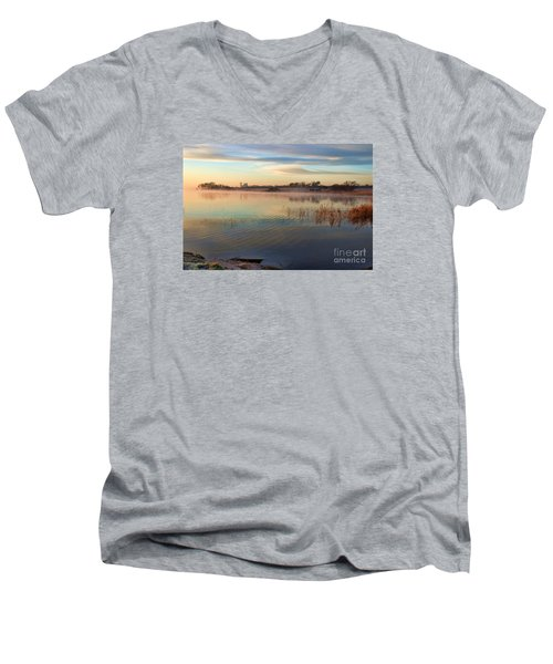 A Gentle Morning Men's V-Neck T-Shirt by Diana Mary Sharpton