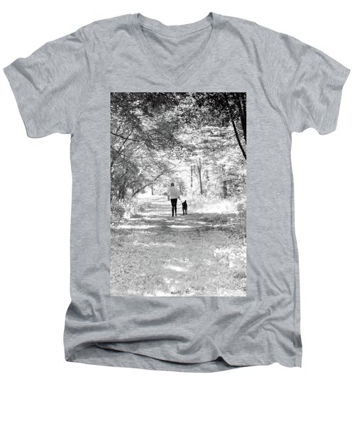 A Girl And Her Dog Men's V-Neck T-Shirt