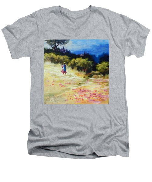 A Girl From Gran Porcon, Peru Impression Men's V-Neck T-Shirt