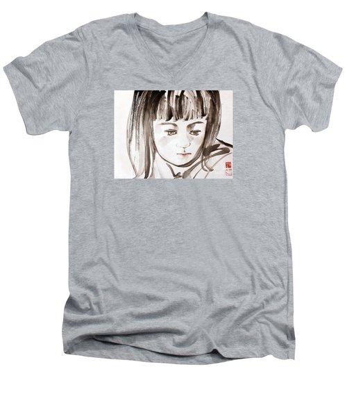 A Girl Men's V-Neck T-Shirt