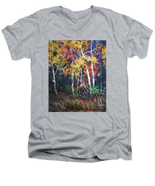 A Glance Of The Woods Men's V-Neck T-Shirt