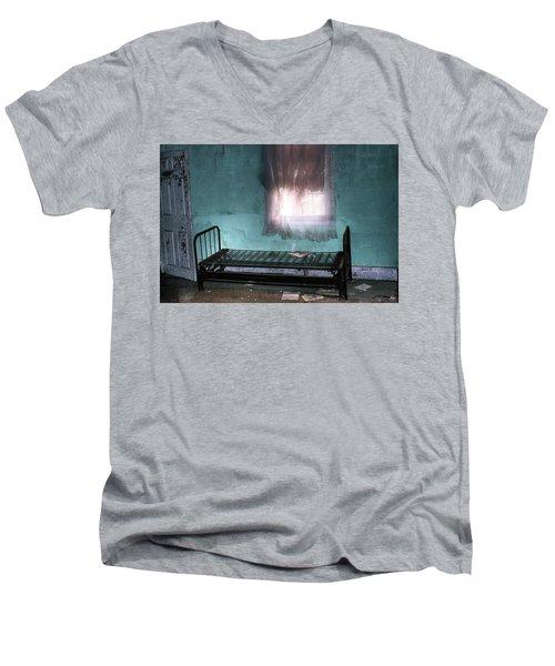 A Glow Where She Slept Men's V-Neck T-Shirt