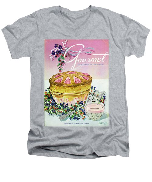A Gourmet Cover Of A Souffle Men's V-Neck T-Shirt