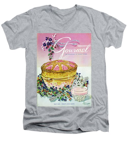 A Gourmet Cover Of A Souffle Men's V-Neck T-Shirt