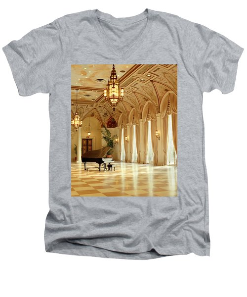A Grand Piano Men's V-Neck T-Shirt