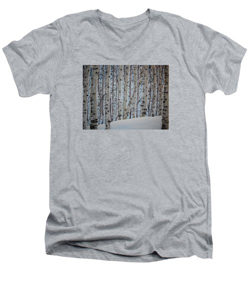 A Grove Of Aspens Men's V-Neck T-Shirt