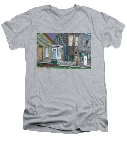 A Haimish Abode From A Bygone Era Men's V-Neck T-Shirt by Bijan Pirnia