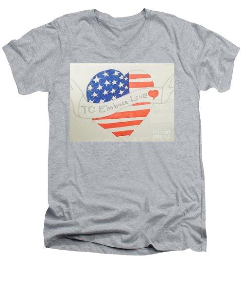A Heart Of Love  Men's V-Neck T-Shirt
