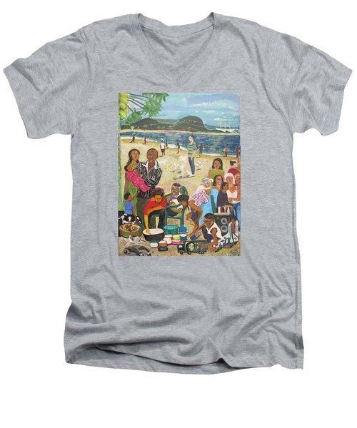 A Heavenly Day - Lumley Beach - Sierra Leone Men's V-Neck T-Shirt by Mudiama Kammoh