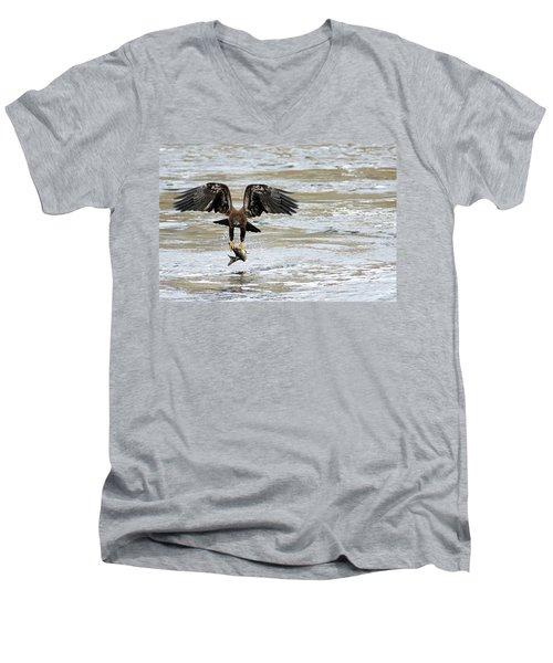 A Heavy Meal Men's V-Neck T-Shirt by Brook Burling