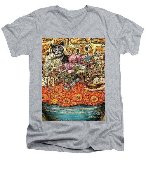 A Helping Hand...? Men's V-Neck T-Shirt