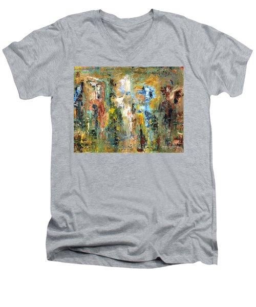 A Herd Of Five Men's V-Neck T-Shirt
