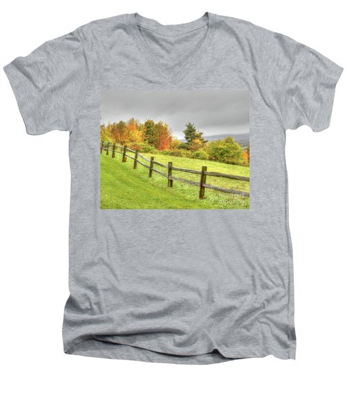 A Highland Forest Autumn Men's V-Neck T-Shirt