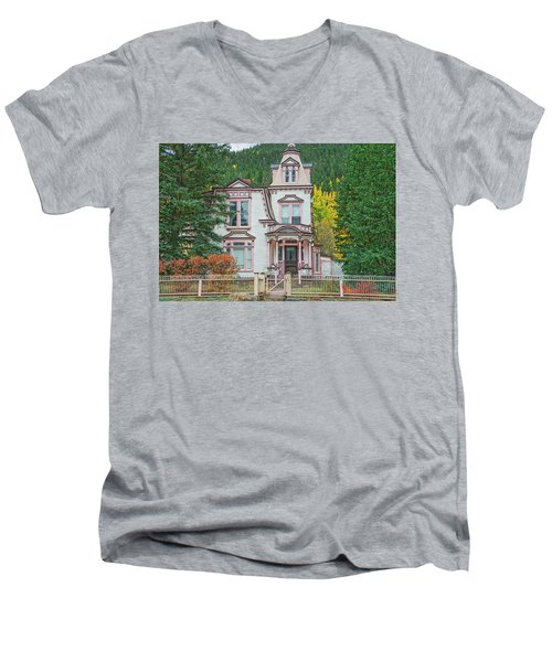 A Historical Treasure Constructed In 1870, Maxwell House, Georgetown, Colorado  Men's V-Neck T-Shirt