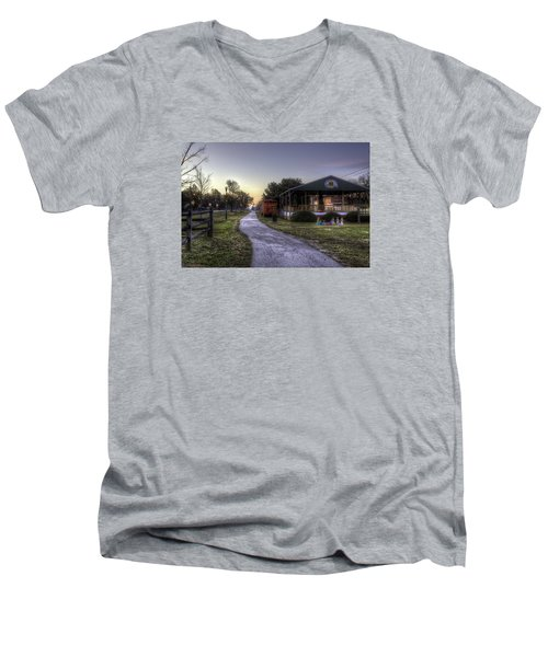 A Hometown Christmas Men's V-Neck T-Shirt
