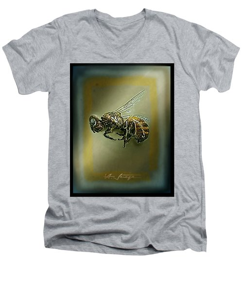 A Humble Bee Remembered Men's V-Neck T-Shirt by Hartmut Jager