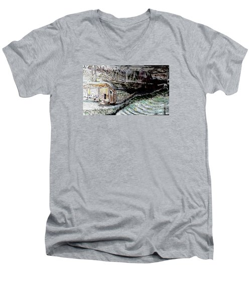 A Hut In The Valley  Men's V-Neck T-Shirt