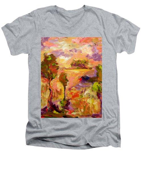 A Joyous Landscape Men's V-Neck T-Shirt