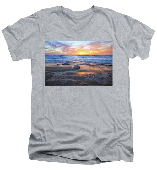 A La Jolla Sunset #1 Men's V-Neck T-Shirt