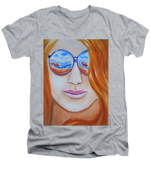 A La Plage Men's V-Neck T-Shirt