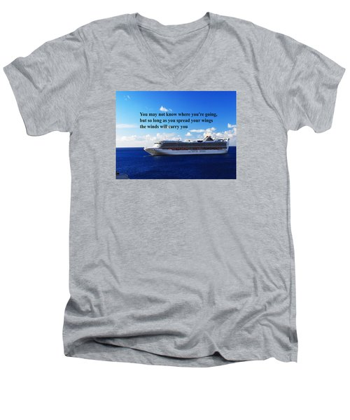 A Life Journey Men's V-Neck T-Shirt by Gary Wonning